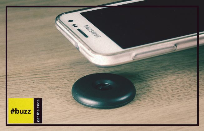 Android phone hovering over NFC tag